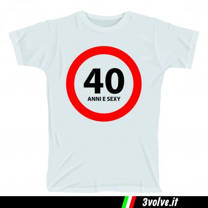 T-shirt 40 anni e sexy