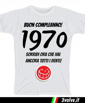 T-shirt 1970 sorridi che hai ancora i denti