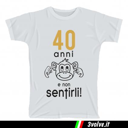 T-shirt 40 anni e non sentirli