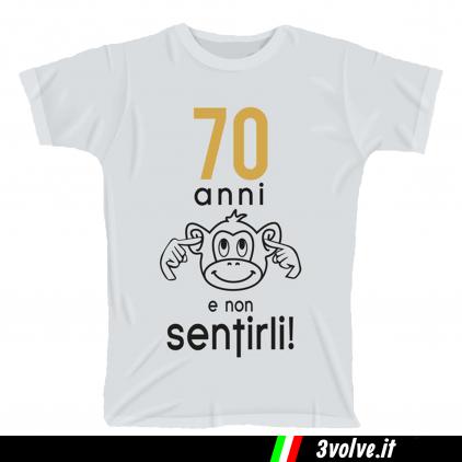 T-shirt 70 anni e non sentirli