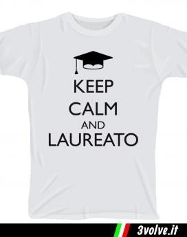 T-shirt Keep Calm Laureato