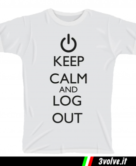 T-shirt Keep Calm Logout