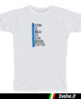 T-shirt Con il Blu ci sta bene tutto