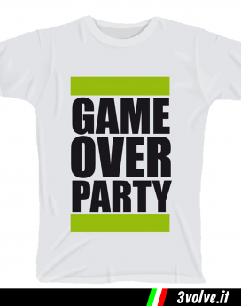T-shirt Game Over Party