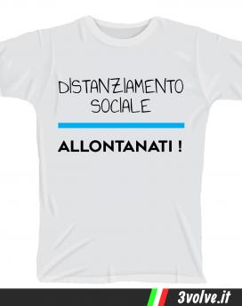 T-shirt Distanziamento sociale allontanati