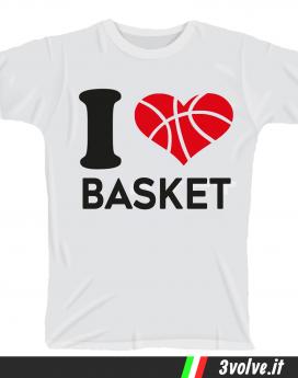 T-shirt I love Basket