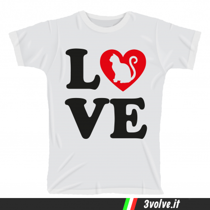 T-shirt I love cat