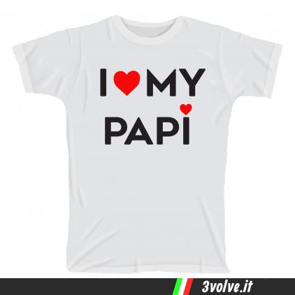 T-shirt I love my papi