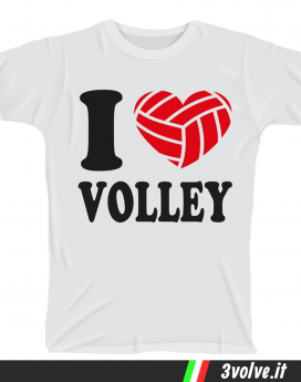 T-shirt I love volley