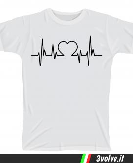 T-shirt Battito cardiaco cuore