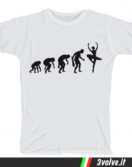 T-shirt Evolution Danza
