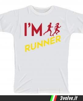 T-shirt I m Runner
