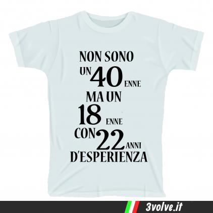 T-shirt non sono un 40 enne