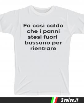 T-shirt panni stesi bussano per rientrare