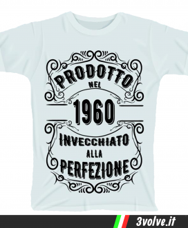 T-shirt 1960 invecchiato alla perfezione