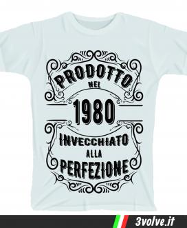 T-shirt 1980 invecchiato alla perfezione